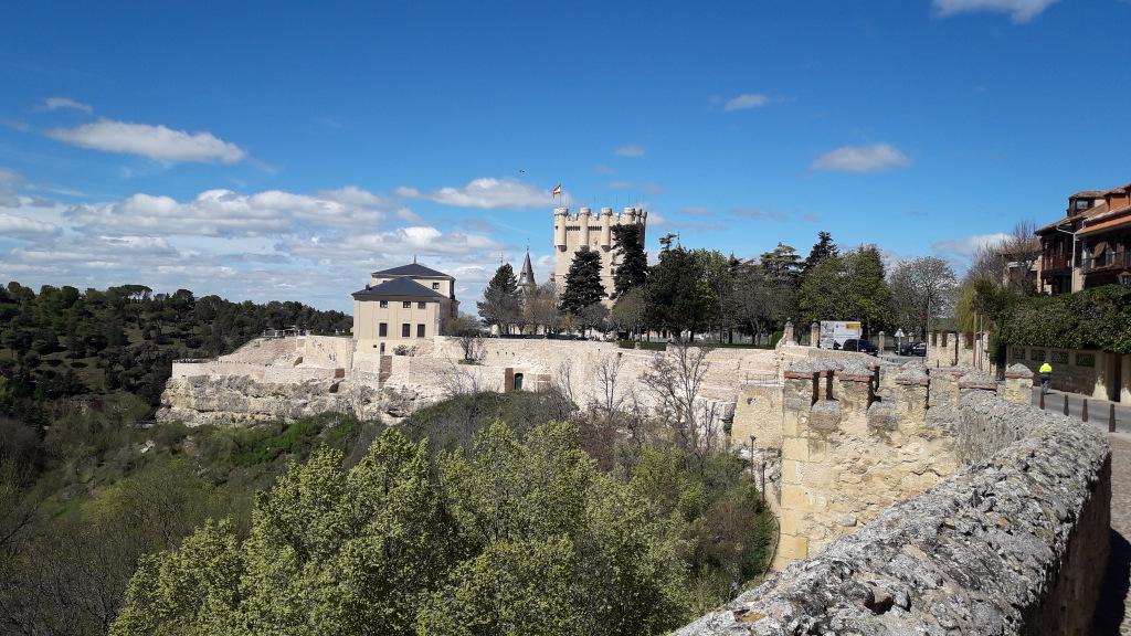 muralha de Segóvia e Alcazar