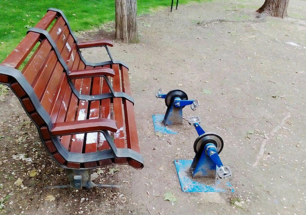 ginástica no parque