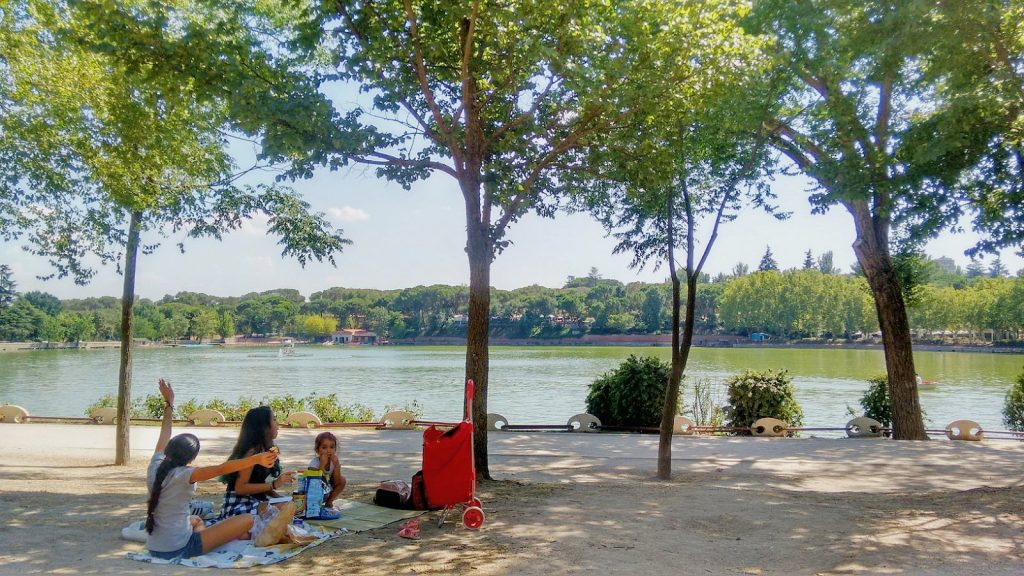 piquenique nos parques de Madrid
