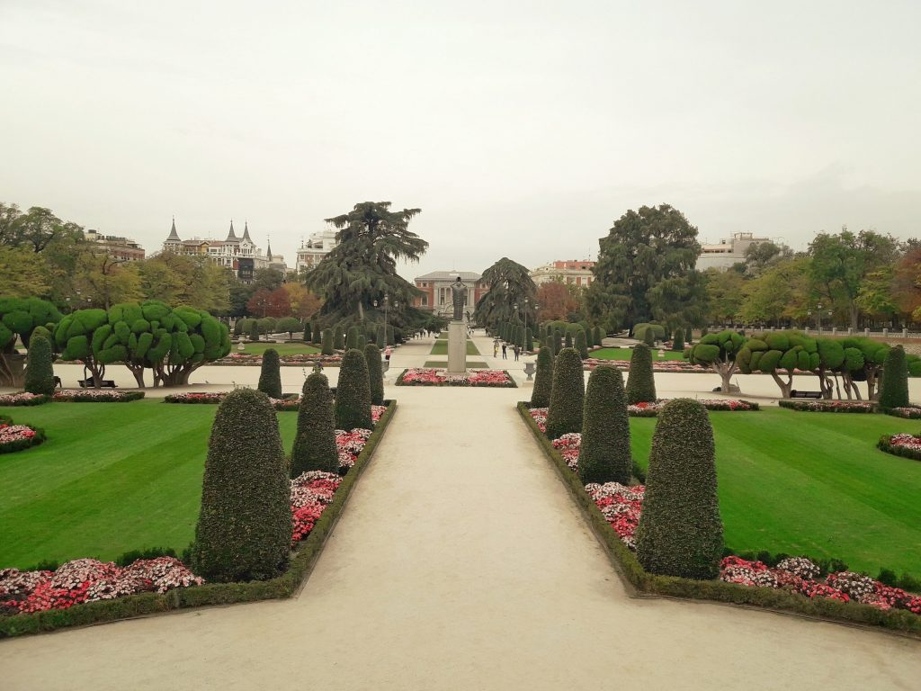 parterre do parque do retiro de Madrid