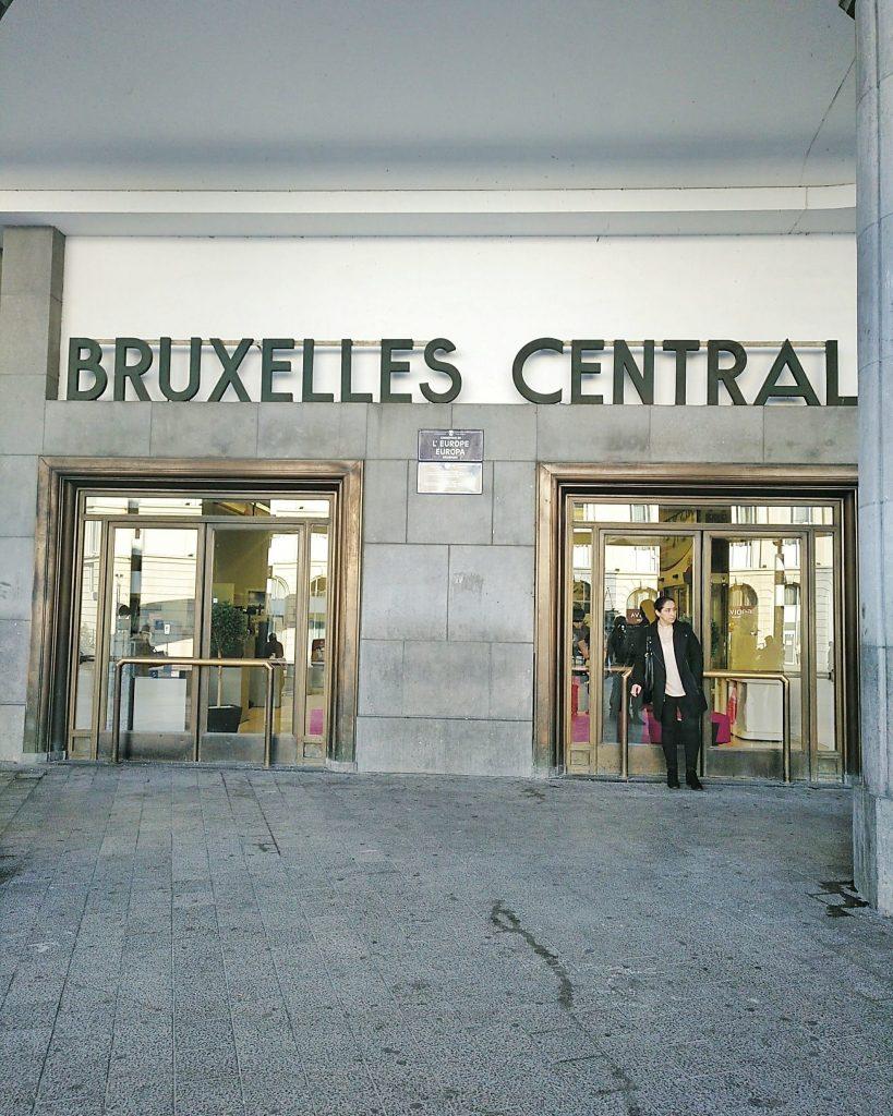 estação central em Bruxelas