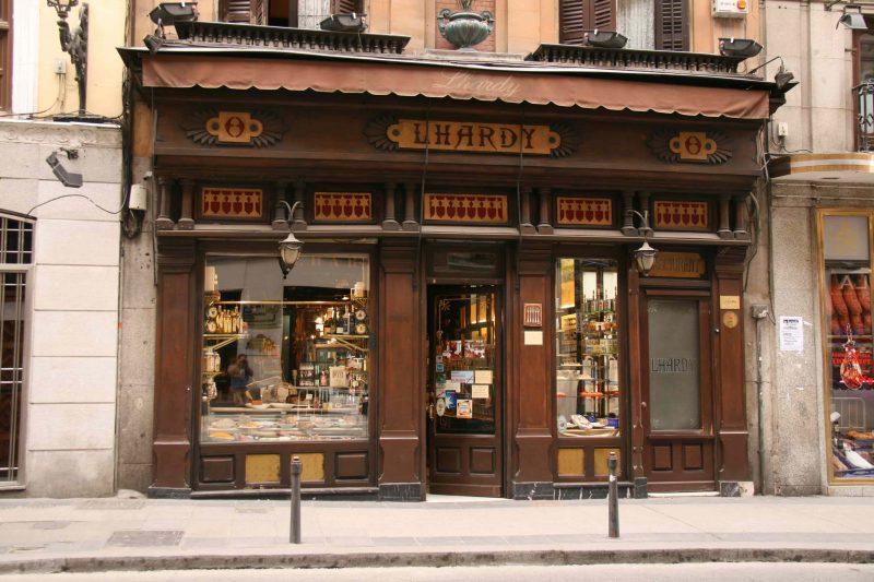 dicas de restaurante em madrid fachada Lhardy