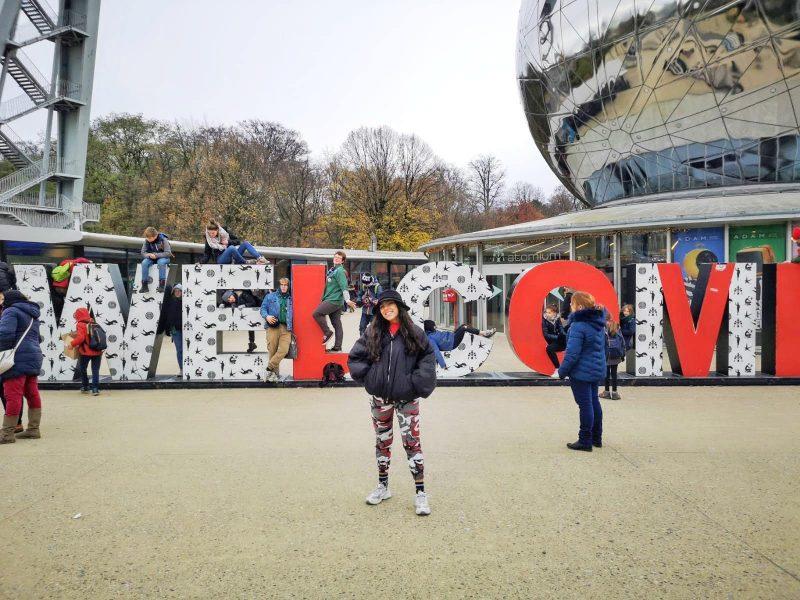 entrada Atomium roteiro na Bélgica