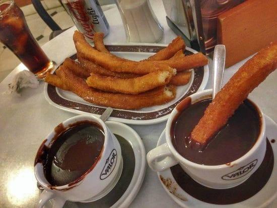chocolate com churros em Madrid Valor