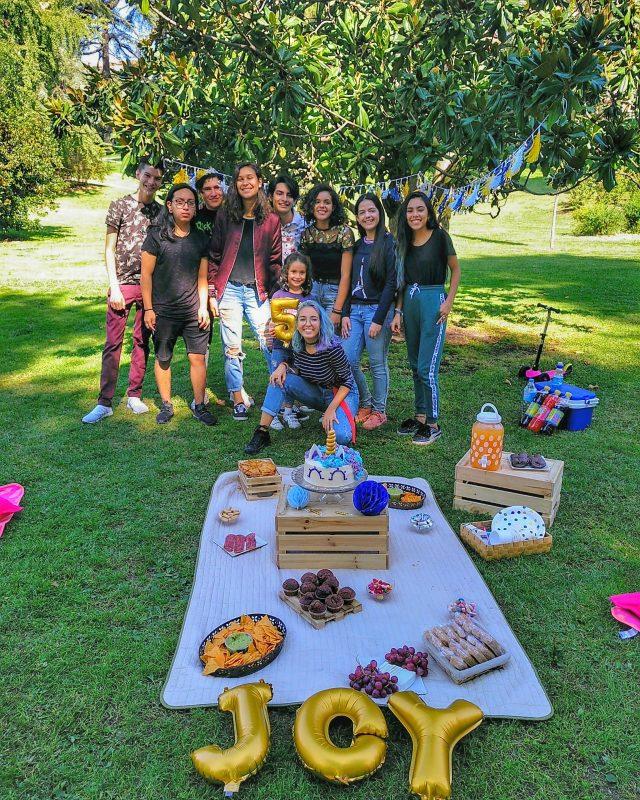 festa piquenique no parque decoração
