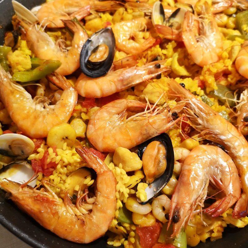 Receita Paella espanhola mista